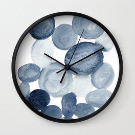 Pebbles Watercolor Abstract Wall Clock