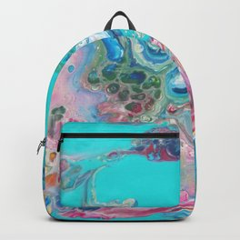 Fluid Nature - Rainbow Sea Dragon - Abstract Acrylic Pour Art Backpack