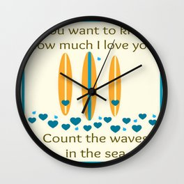 Count the waves Wall Clock
