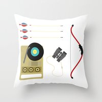 moonrise Throw Pillows featuring Moonrise by Brittany Metz