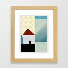 la petite maison en bleu Framed Art Print