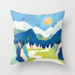 Spring River Throw Pillow