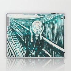 The Scream's Haze (light blue) Laptop & iPad Skin