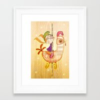 carousel Framed Art Prints featuring Carousel by José Luis Guerrero