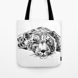 Chilling Leopard Tote Bag