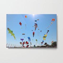 Kites over Lake Michigan Metal Print
