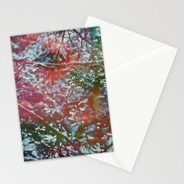 Green Frost Stationery Cards