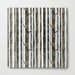 Woodland Stripe Metal Print
