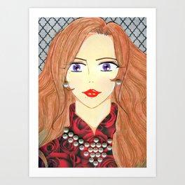 Duchess in Pearls Art Print