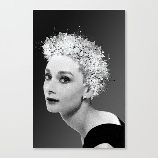 Audrey in Black Canvas Print