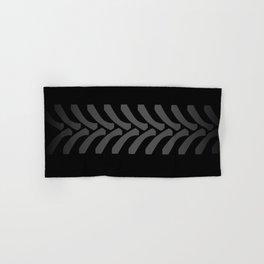 Black Tyre Marks Hand & Bath Towel
