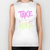 backpack Biker Tanks featuring Take A Hike by Zeke Tucker