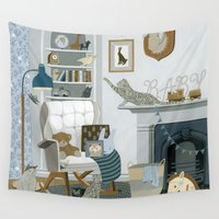 nursery Wall Tapestries featuring Baby Animal Nursery by Yuliya