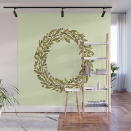 Leafy Letter O Wall Mural
