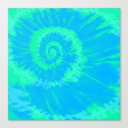 Tie dye neon blue Canvas Print