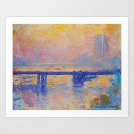 Claude Monet - Charing Cross Bridge Art Print