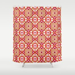 Ethnic Geometric Moroccan Watercolor Seamless Patern 1 Shower Curtain