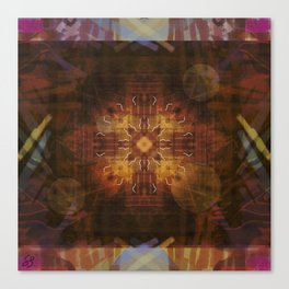 money mandala Canvas Print