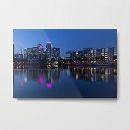Docklands sunset Metal Print
