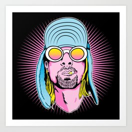 Neon Icon  Art Print