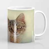 kitten Mugs featuring kitten by lucyliu