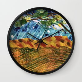 Storybook Landscape Collage Wall Clock