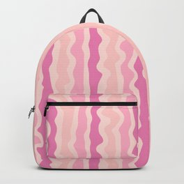 Pink and Yellow Pastel Abstract Pattern Striped Backpack