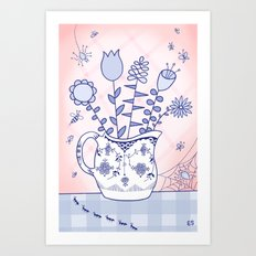 Spring Bouquet with Bugs Art Print