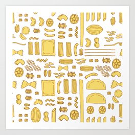 Pasta, a pattern. Art Print
