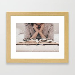 Counting Sheep by Omerika Framed Art Print