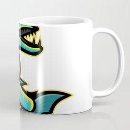 Barracuda and Anchor Mascot Coffee Mug