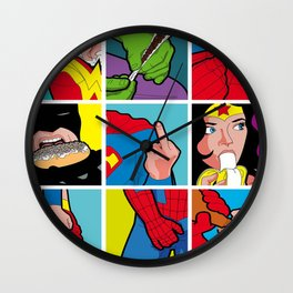 The secret life of heroes Wall Clock