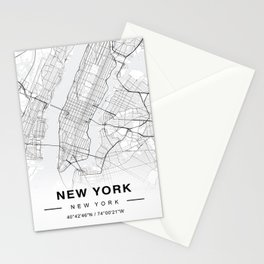 New York Map Stationery Cards