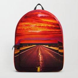 Desert Sunrise, Big Bend, Texas Backpack