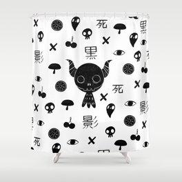 Paint it Kuro Shower Curtain