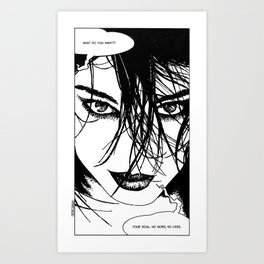 asc 352 - La négotiation (The bargain) Art Print