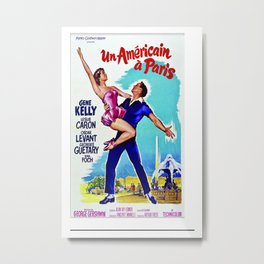 Vintage An American in Paris Movie Poster - Foreign Film Poster Metal Print