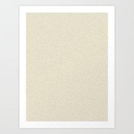 Cornsilk Yellow Saturated Pixel Dust Art Print