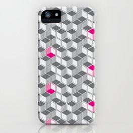 il·lusionimes òptic Grey and magenta iPhone Case