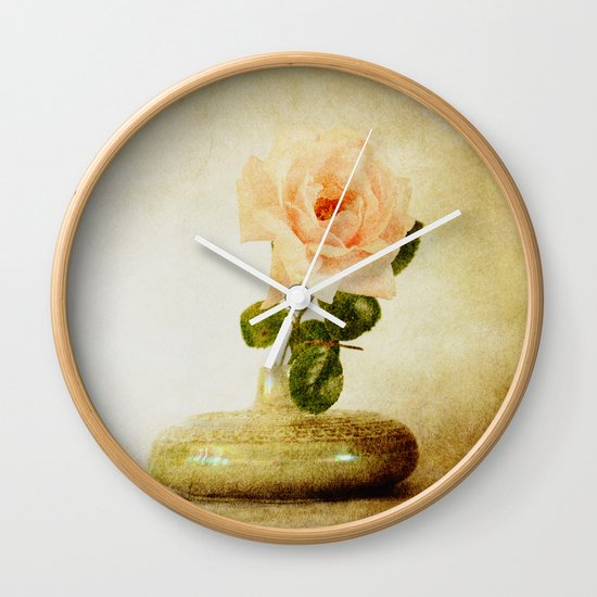 Vintage Rose  - JUSTART © Wall Clock