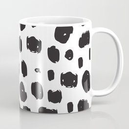 Hand Drawn Ink Spots – Black and White Art Coffee Mug