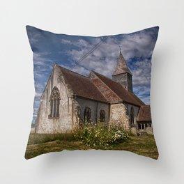 St Bartholomew Chalvington Throw Pillow