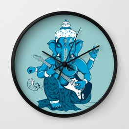Ganesha rocks ! (v3) Wall Clock