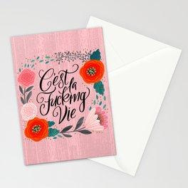 Pretty Swe*ry 2.0: C'est La Fucking Vie Stationery Cards