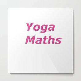 """Yoga Maths"" pink text artwork Metal Print"