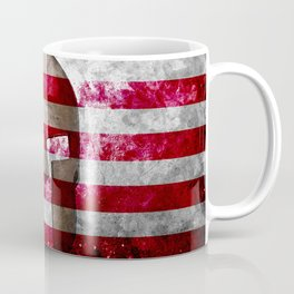 Molon Labe - Spartan Helmet Across An American Flag On Distressed Metal Sheet Coffee Mug