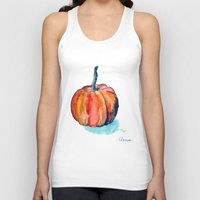 pumpkin Tank Tops featuring Pumpkin by Elena Sandovici