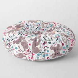 Cute Vintage Pink Cuddly Koalas Floor Pillow