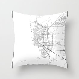 Minimal City Maps - Map Of Boulder, Colorado, United States Throw Pillow
