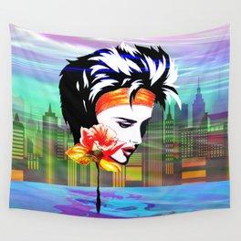 Metropolis Nostalgia Vaporwave Art Wall Tapestry